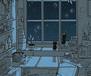 gif, night, and stars image