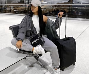 airport, clothes, and sneaker image