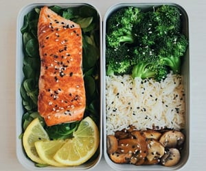 diet, fish, and healthy food image