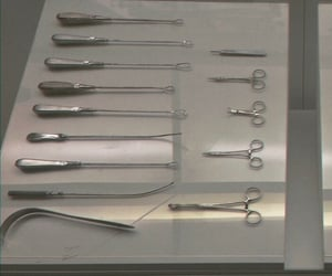 scissor, surgeon, and scalpel image