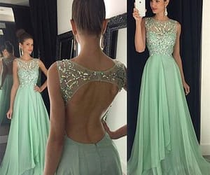 prom dresses, beaded prom dress, and prom gown image