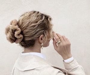blonde hair, brown hair, and curly hair image