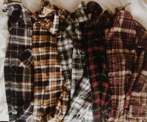 clothes, flannel, and outfit image
