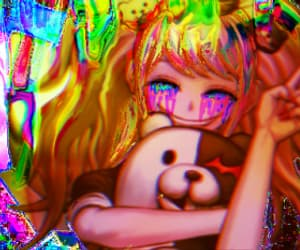 aesthetic, anime, and glitch image