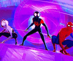gif, spider-man, and into the spderverse image