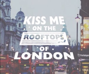 london, wallpaper, and kiss image