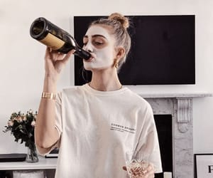 girl, wine, and style image