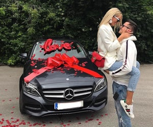 blonde, cars, and couple image