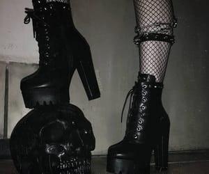 black and heels image