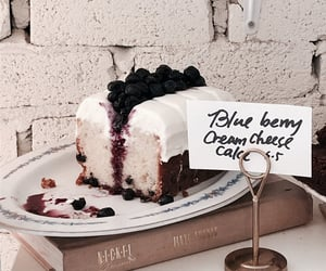 blueberries, dessert, and cheese cake image