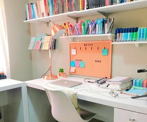 office, stationary, and study room image
