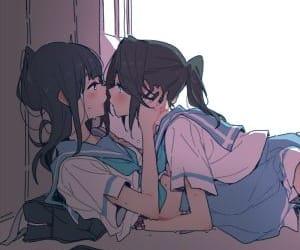 anime girl, cute, and love image