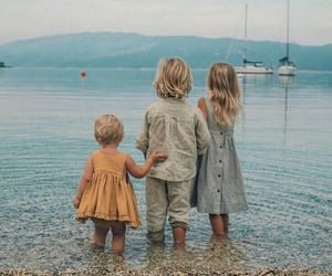 family, beach, and photography image