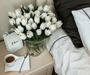 flowers, dior, and white image