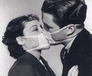 kiss, couple, and mask image