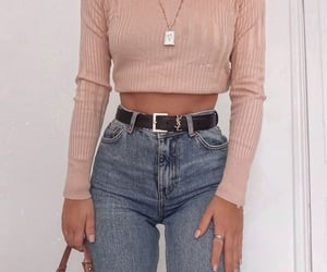 fashion, outfit, and croptop image