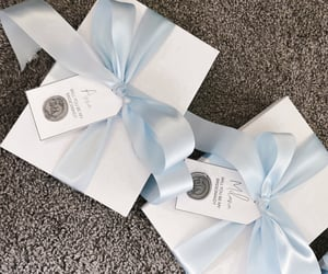 baby blue, gift, and pastel image