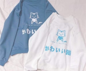 blue, aesthetic, and clothes image