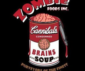 zombie, brain, and food image