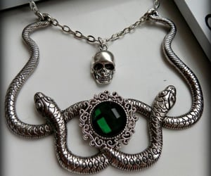 green, slytherin, and necklace image