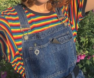 aesthetic, clothes, and rainbow image