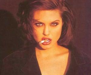 Angelina Jolie, cigarette, and smoke image
