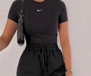 black, fashion, and nike image