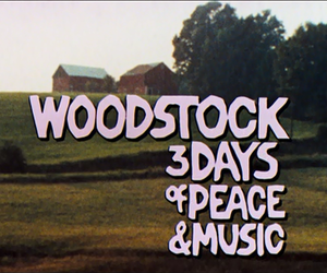 woodstock, peace, and music image
