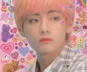 pink, bts, and taehyung image