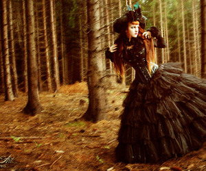 gothic, dress, and photography image