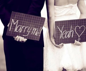 love, couple, and marry image