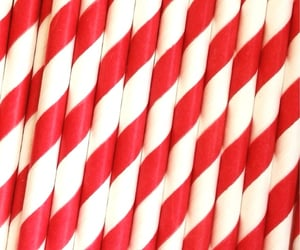 red, Straws, and red and white image