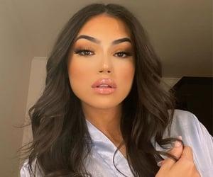 girl, makeup, and selfie image