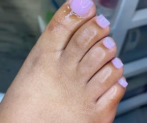 nails, pedicure, and pink image