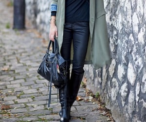 boots, street style, and kaki image