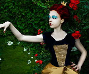 beauty, fantasy, and red queen image