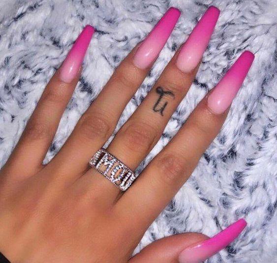 nails, pink, and nails.nailart image