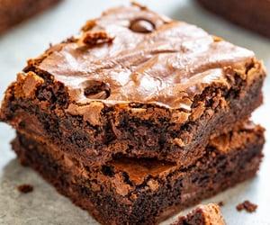 brownies, chocolate, and food image