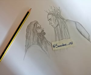 draw, fan art, and the hobbit image