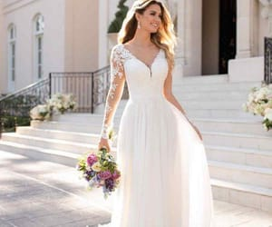 bride, engaged, and dress image