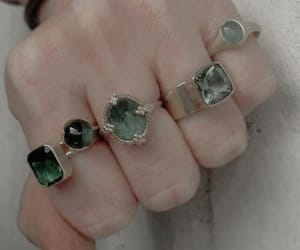 aesthetic, green, and rings image
