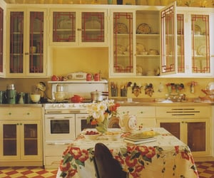 60's, kitchen, and old image