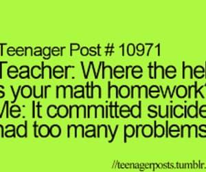 funny, teenager post, and math image