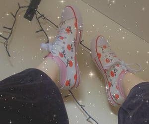 cherry, fairylights, and shoes image
