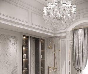 bathroom, luxury bathroom, and white bathroom image