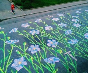 flowers, art, and street image