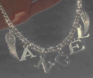 aesthetic, angel, and necklace image