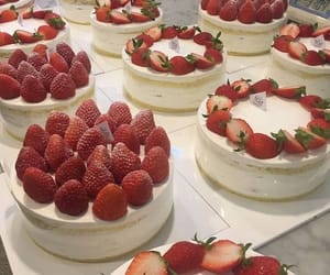strawberry, cake, and fruit image