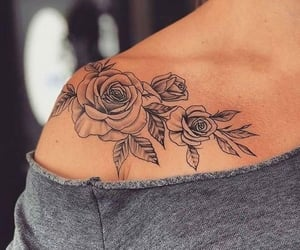 tattoo, flowers, and inspiration image