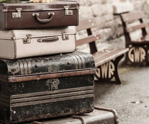 luggage, old, and vintage image